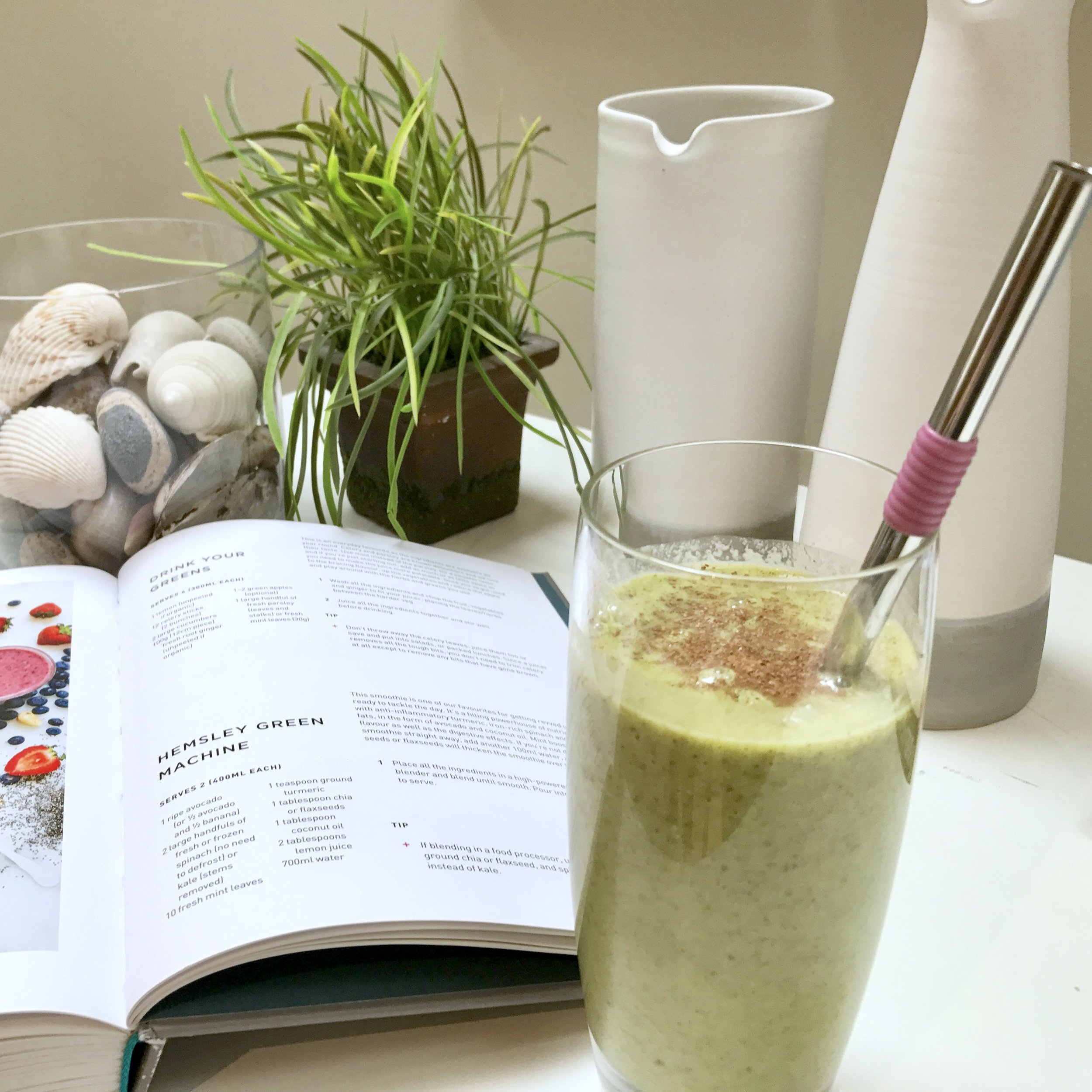 The Hemsley Green Machine smoothie, with avocados, kale, mint and other healthy goodness