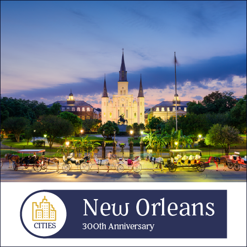 - New Orleans is authentic, resilient, and beloved. One of our favorite cities in the world, this southern gem melds French and Spanish influences in its culture and cuisine. In true Mardi Gras style, New Orleans is rolling out the red carpet in honor of its Tricentennial, and you should be there.