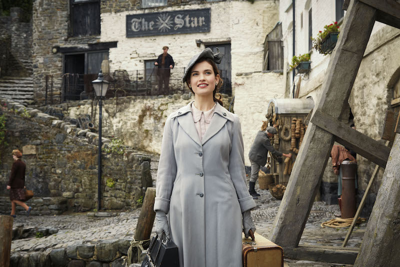 Lily James in the Guernsey Literary and Potato Peel Society