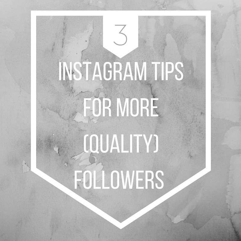 3 tips for more instagram followers