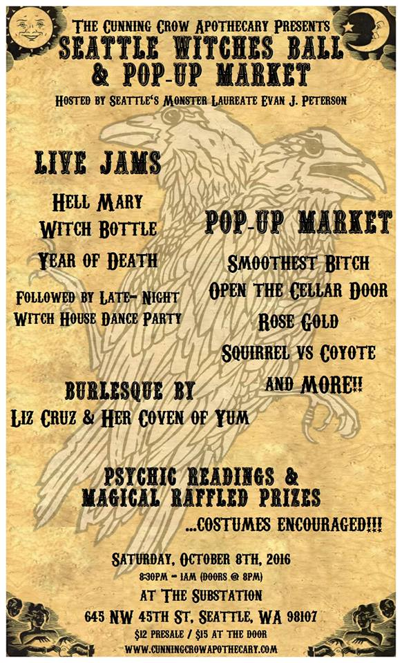 Cunning Crow Witches Ball Pop Up Market