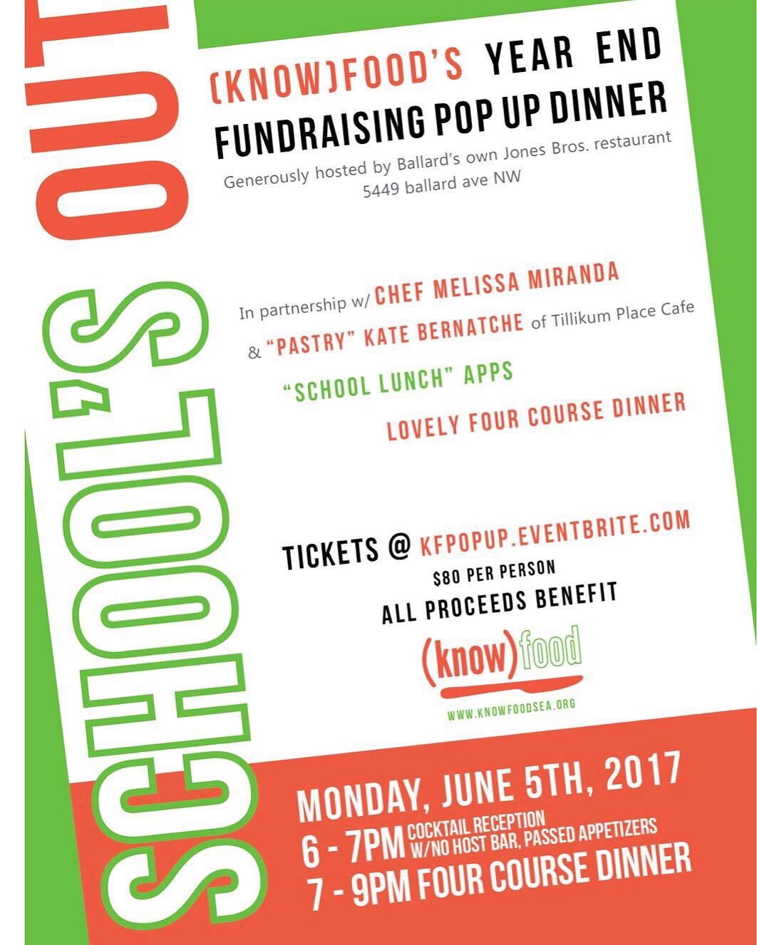 (know) food seattle fundraiser