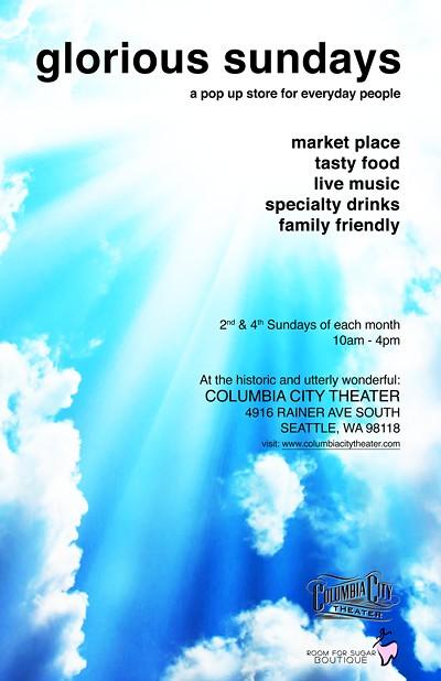 Columbia City Theater glorious sundays pop up market
