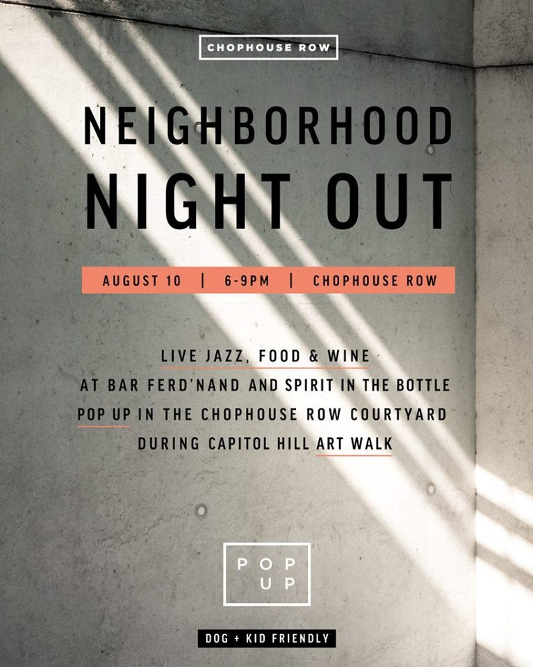 Chophouse Row Neighborhood night out