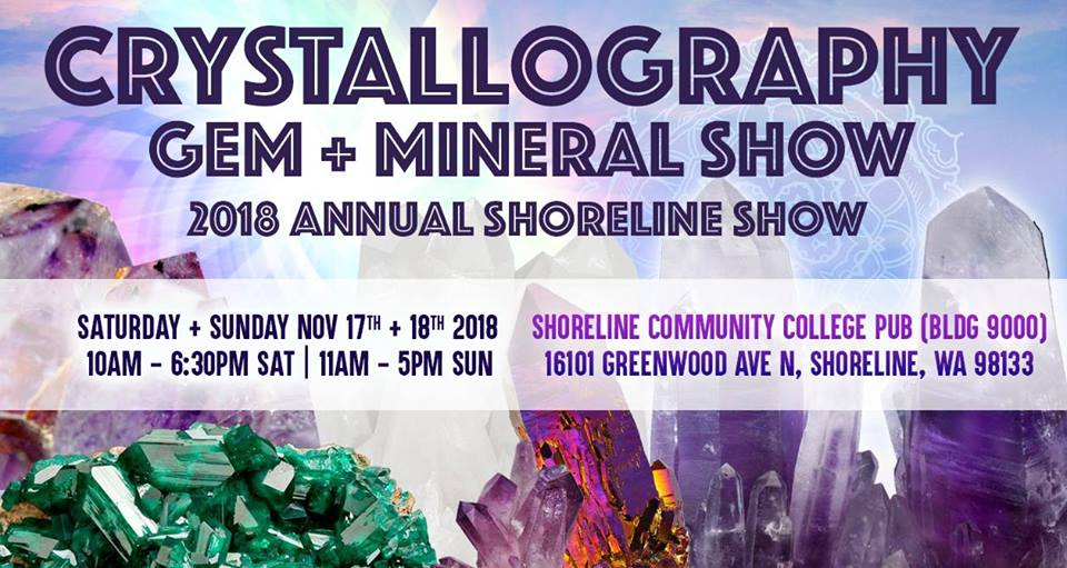 Crystallography Gem + Mineral Market w Art, Music, Crafts SEA