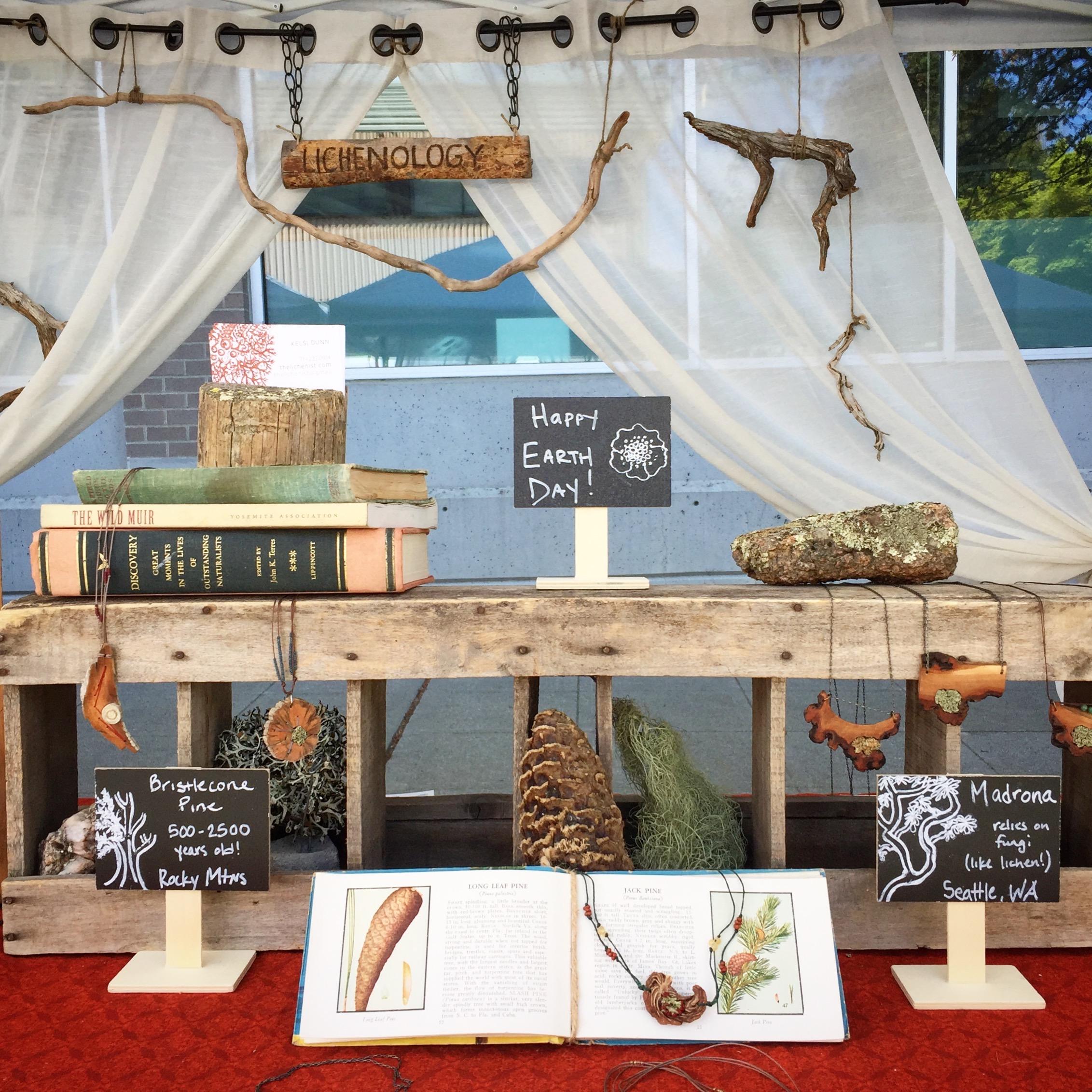 Lichenology market booth display