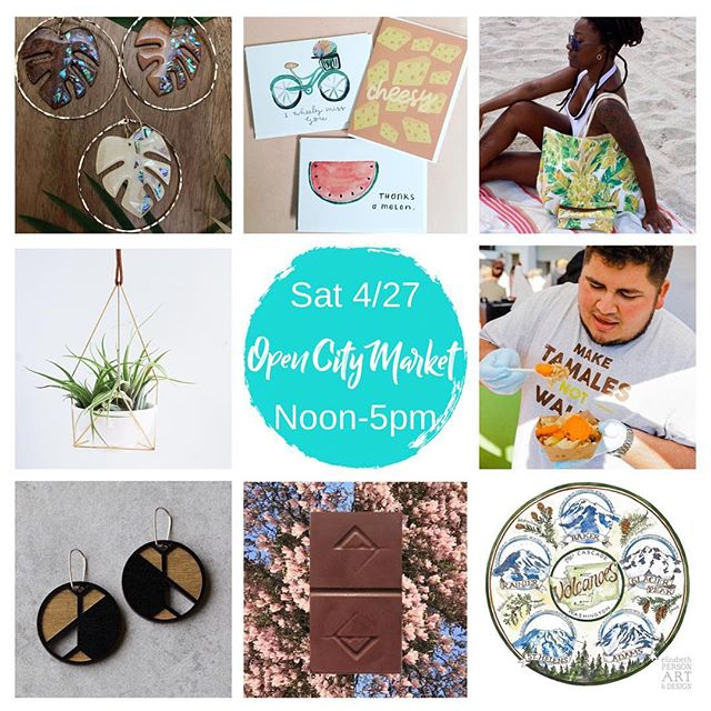 This Saturday April 27th noon-5pm shop a great mix of local makers at @opencitymarket at @populuxebrewing 💐Perfect timing for Mother's Day gift shopping! Mom will feel extra special when you give her handcrafted goods by talented local vendors like: @liveinspiredjewelry @cultivatepropagate @fullbloomandco @maudiico @hemleva @elizabeth_person @gingerbeedesigns @elementalchocolate Plus you can grab a delicious dish from @frelardtamales and a refreshing brew from @populuxebrewing while you browse! . . . #seattle #shoplocal #shopsmallseattle #supportlocal #popupshop #popupmarket #shopping #handsandhustle #handmade #handcrafted #handmadejewelry #myeclecticmix #seattleliving #seattleevents #seattleart #frelard #handmadegoods #seattlefood #seattlelife #seattlepulse #thisweekend #localcrafts #craftbeer #seattlebeer #foodtruck #seattlefoodtruck #foodtrucks #mothersdaygifts #mothersday #giftideasformom