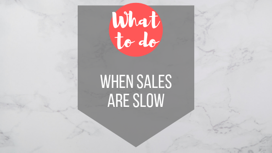 What to do when online sales are slow