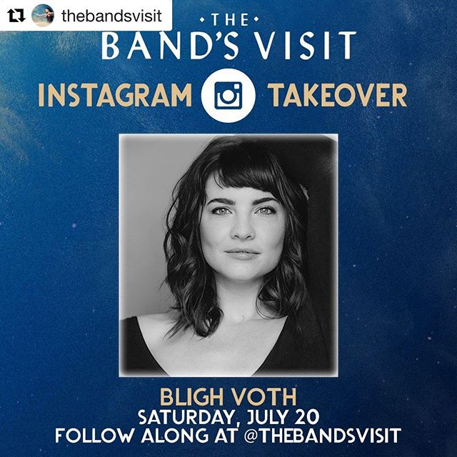 If you wanna see my pre-show dance, watch me get lost in the @kennedycenter, and hear about Karen's Halloween costume this year you should probably bop over to @thebandsvisit insta for my takeover...