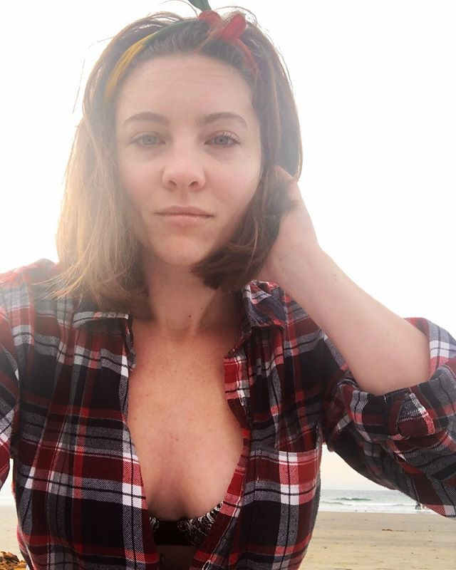 California. Flannel with a bathing suit.