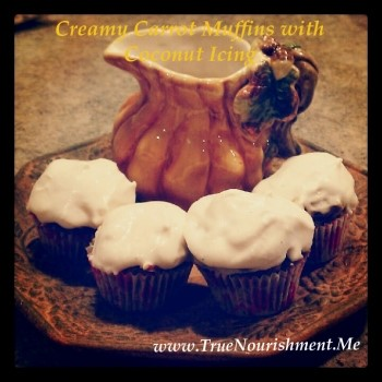 Delicious Gluten Free Vegan Carrot Muffins with Coconut Icing.jpg