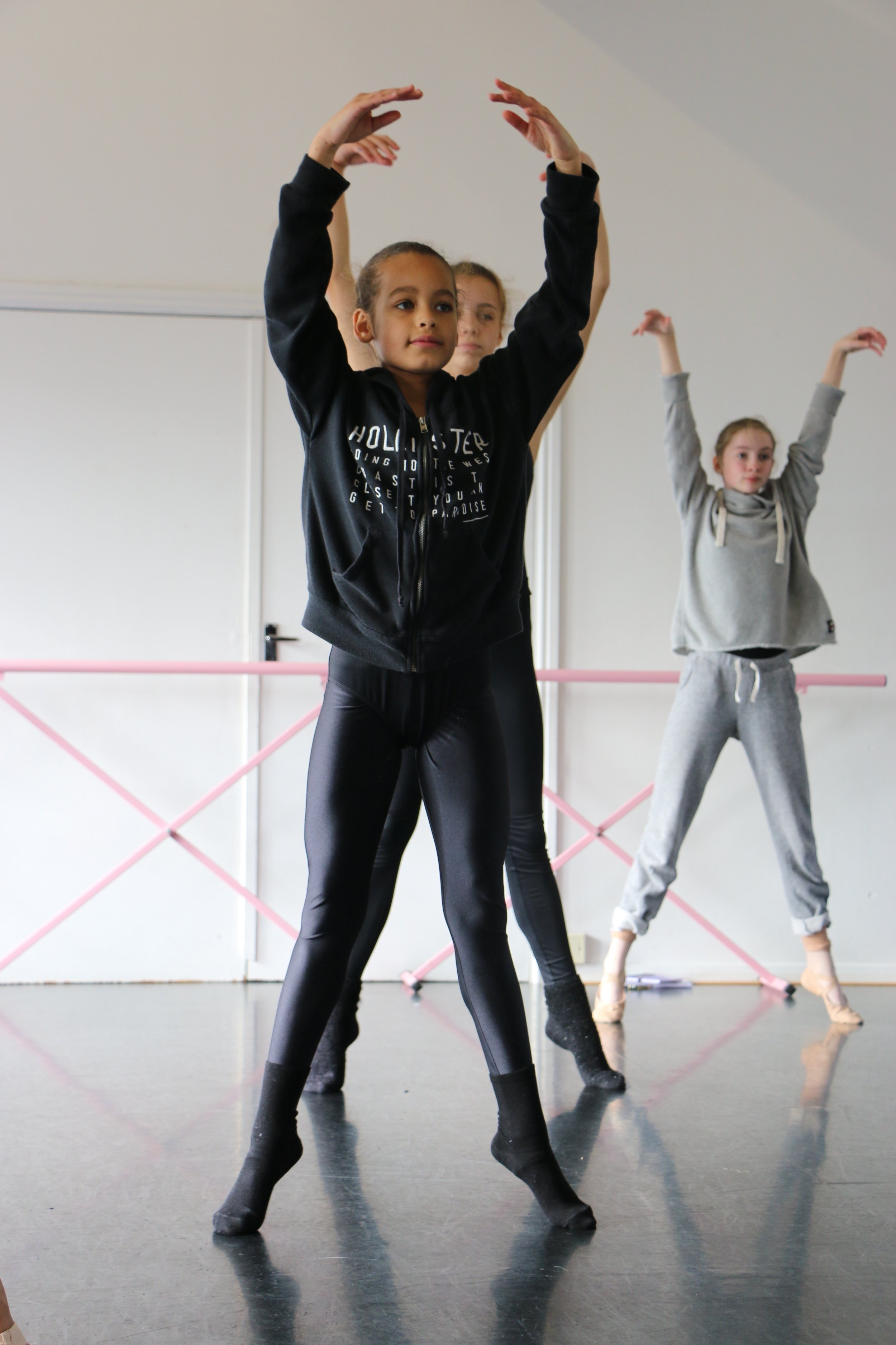 Each day, we focued on one main dance skill during technique class: Line, Balance, Turn and Jump. By doing this, we could make the students deal with one major skill each day, so that by the end of the week, they could piece it all together, and imporve their overall technique.