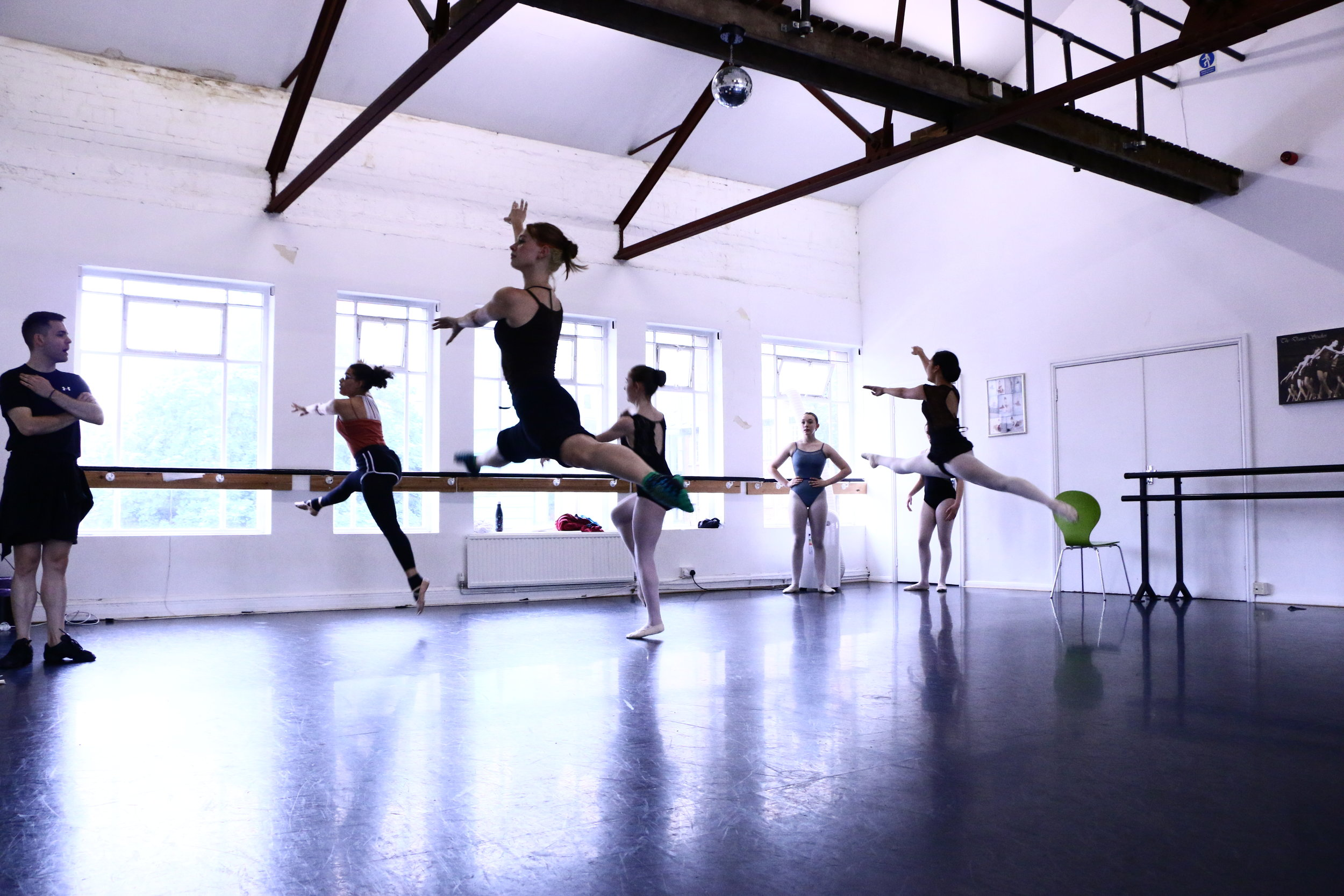 Joshua Ecob teaching ballet at the NGDance Summer Intensive 2019