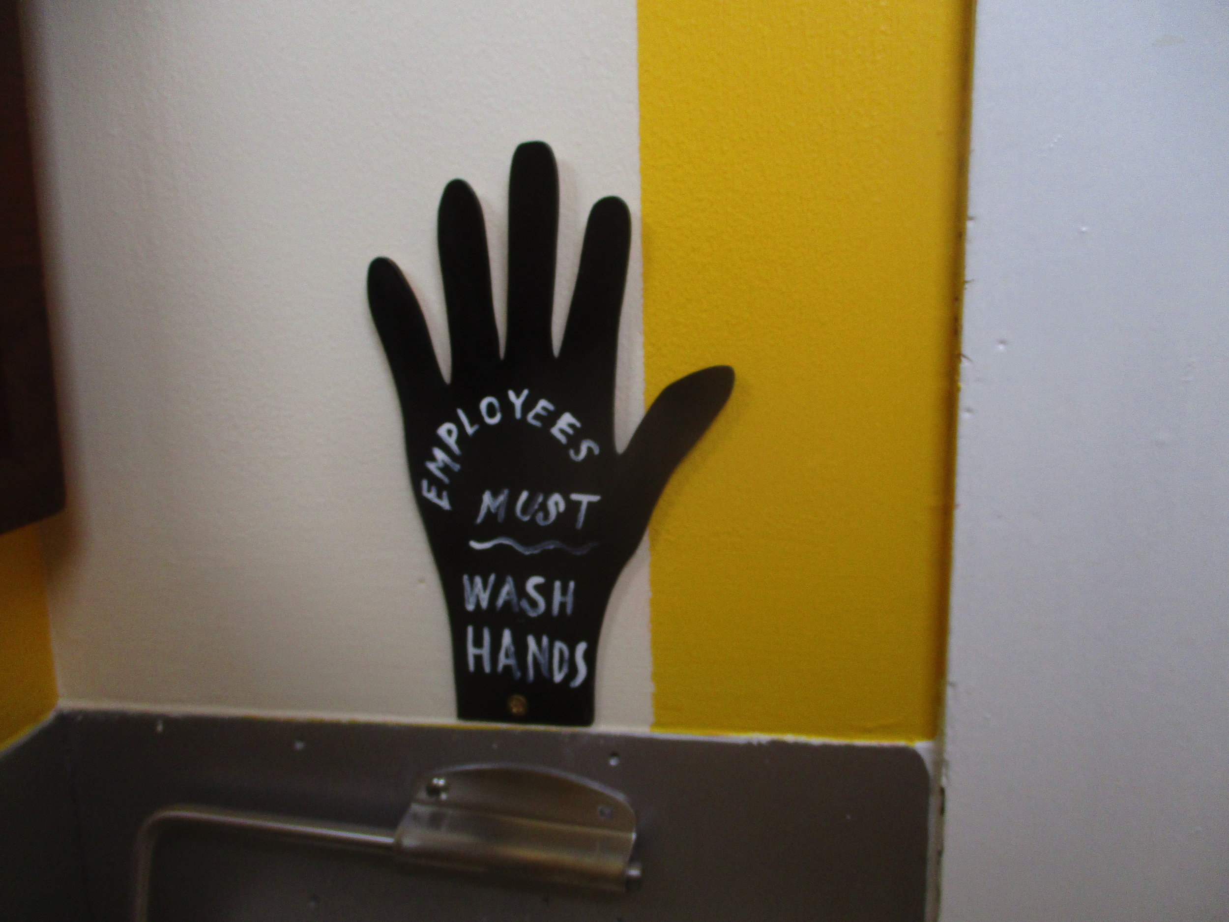 "As usual, Etiquetteer believe these signs should read "" Everyone  must wash hands."""