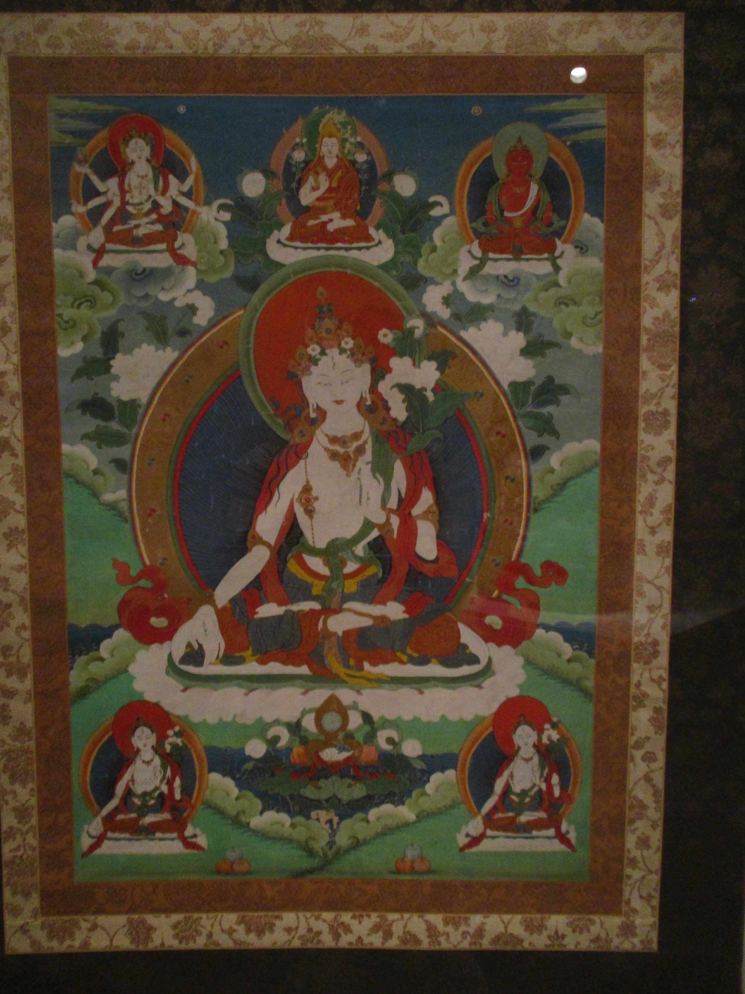 The Buddhist deity White Tara, also the bodhisattva of compassion.