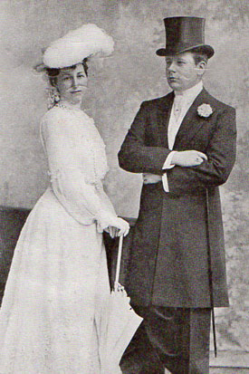 Mr. and Mrs. Henry Symes Lehr on their honeymoon.