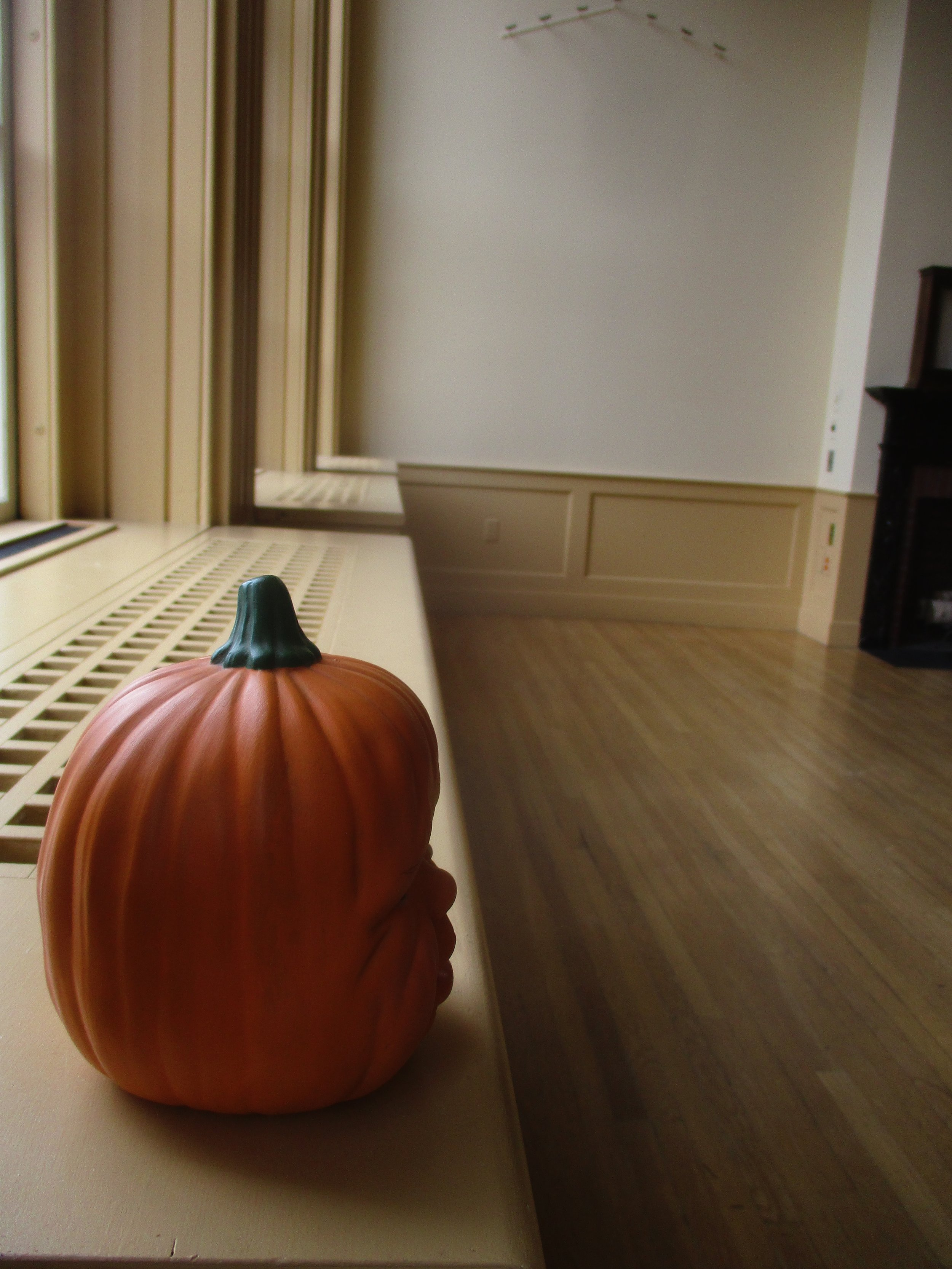Weeping Baby Pumpkin Head surveys whatever that big room is on the second floor.