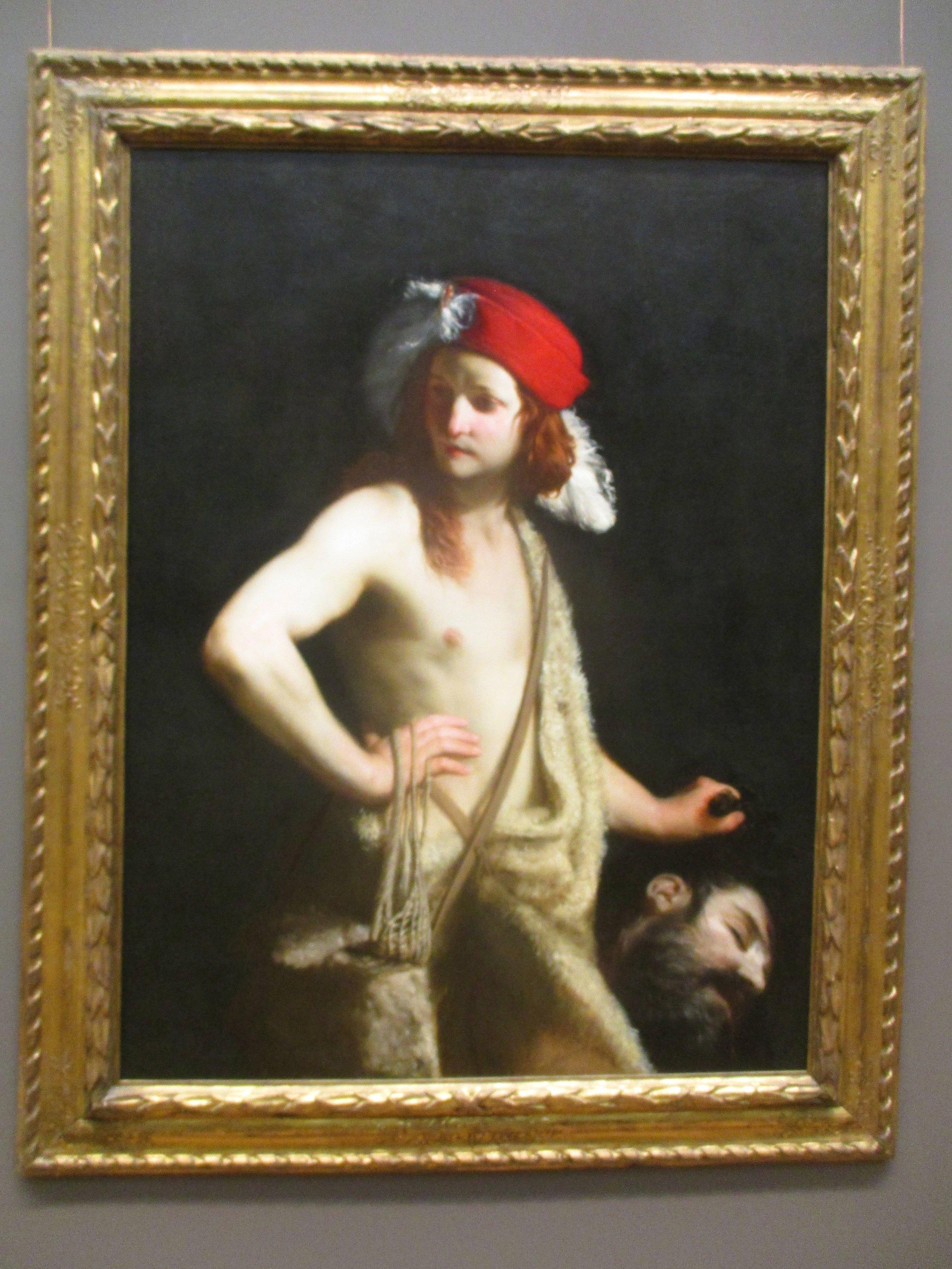 David with the Head of Goliath , bu Guido Cagnacci, c. 1655