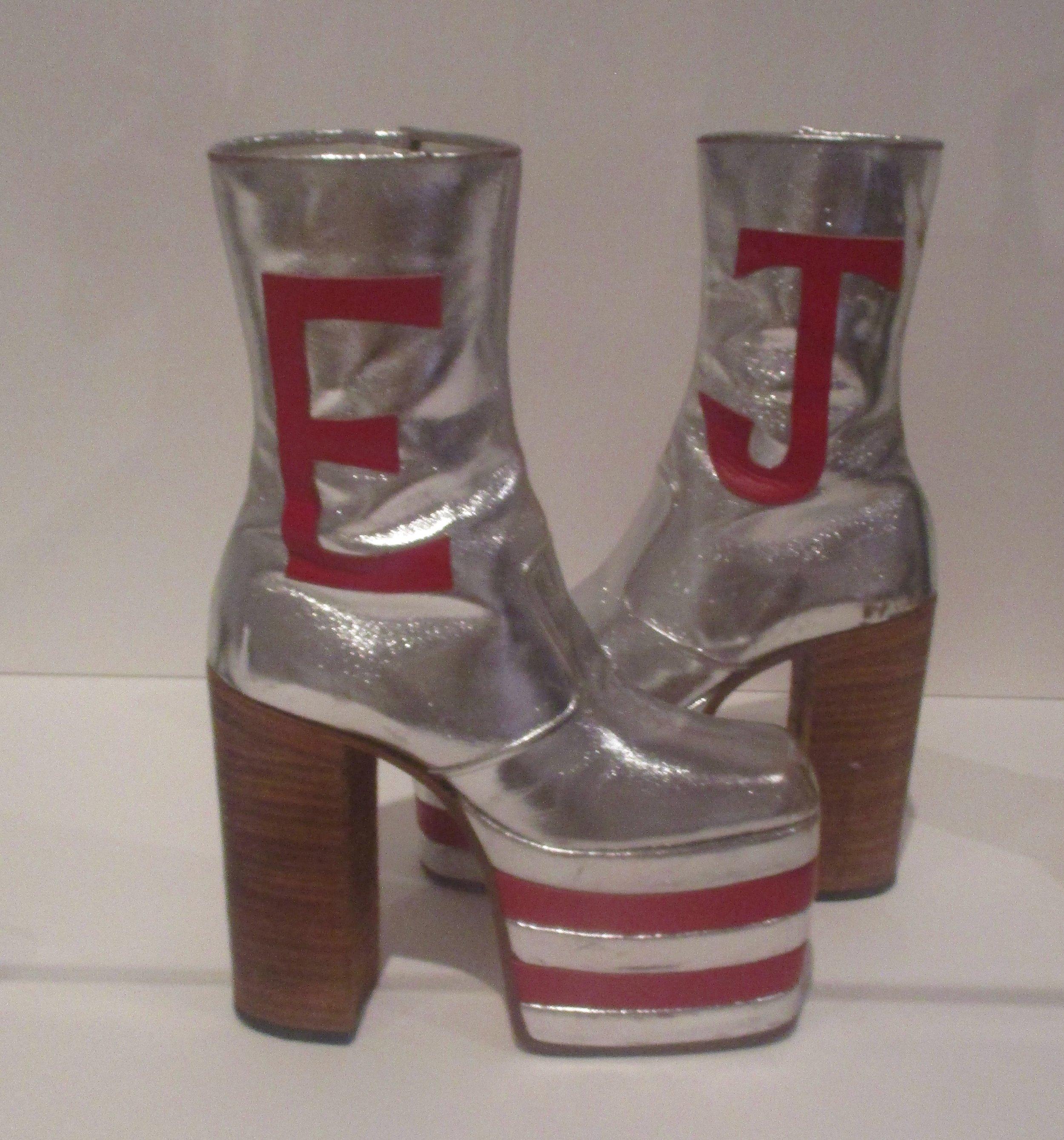 Elton John's platform shoes.