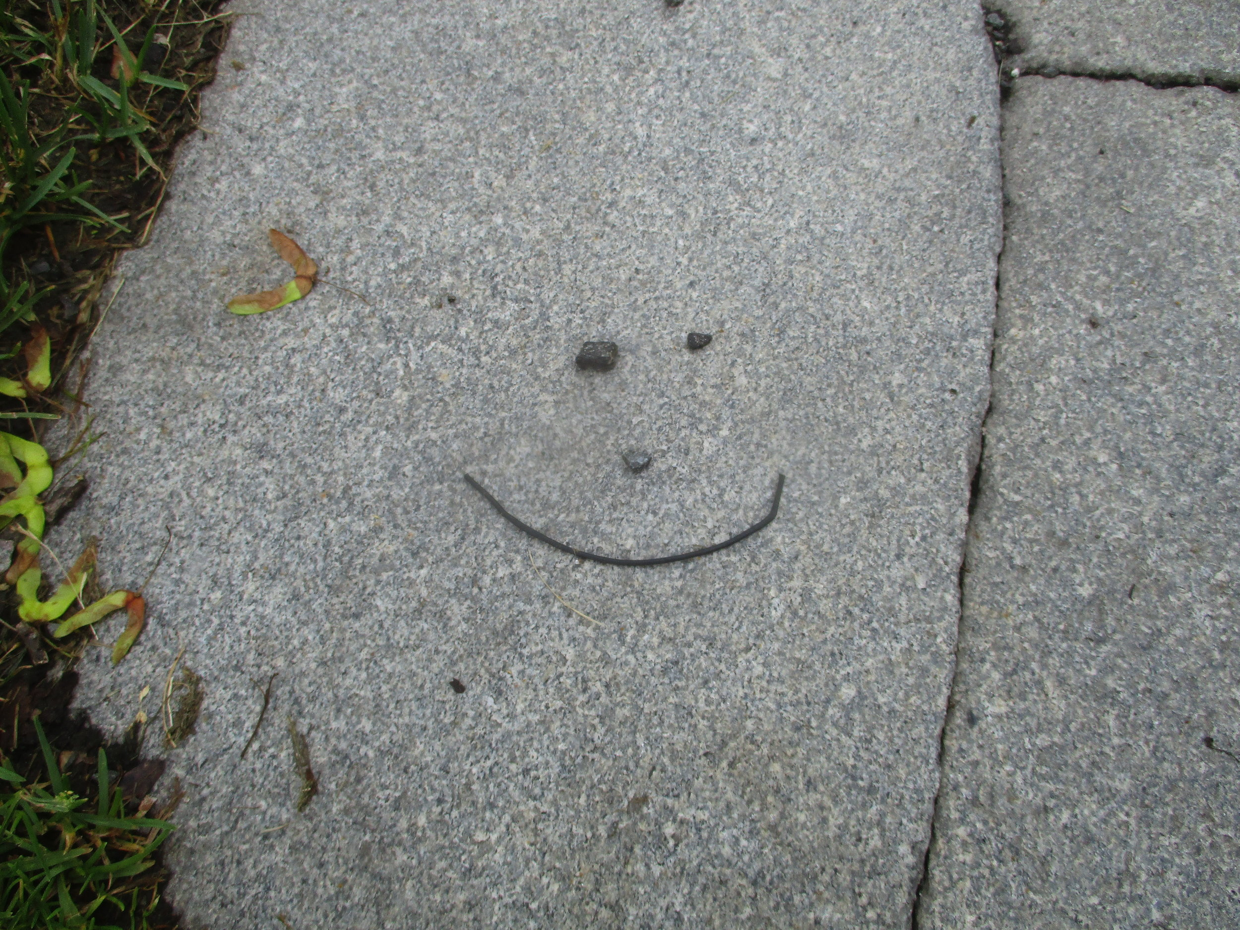 Seen Saturday on the walkway near my office. Coincidence?