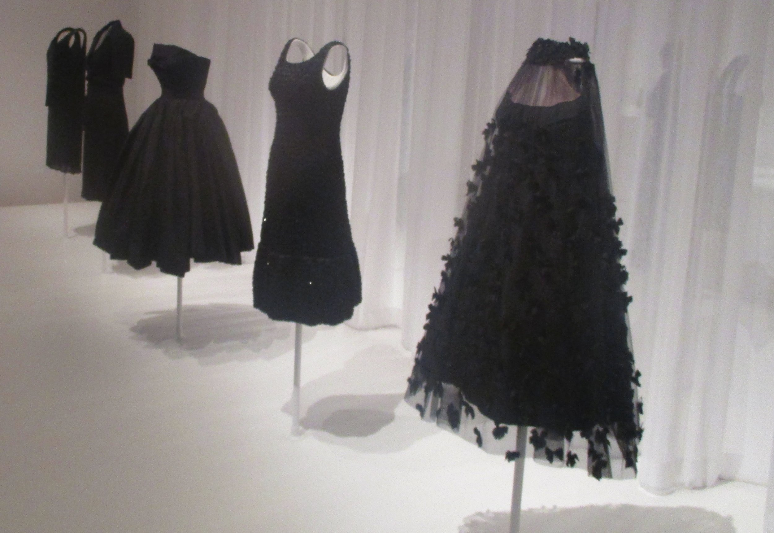Etiquetteer saw these 20th-century little black dresses at MoMA last January.