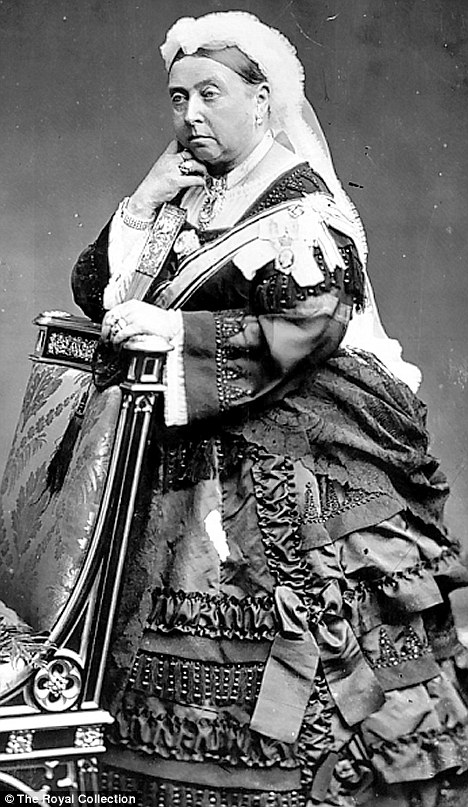 Queen Victoria as we are used to seeing her.