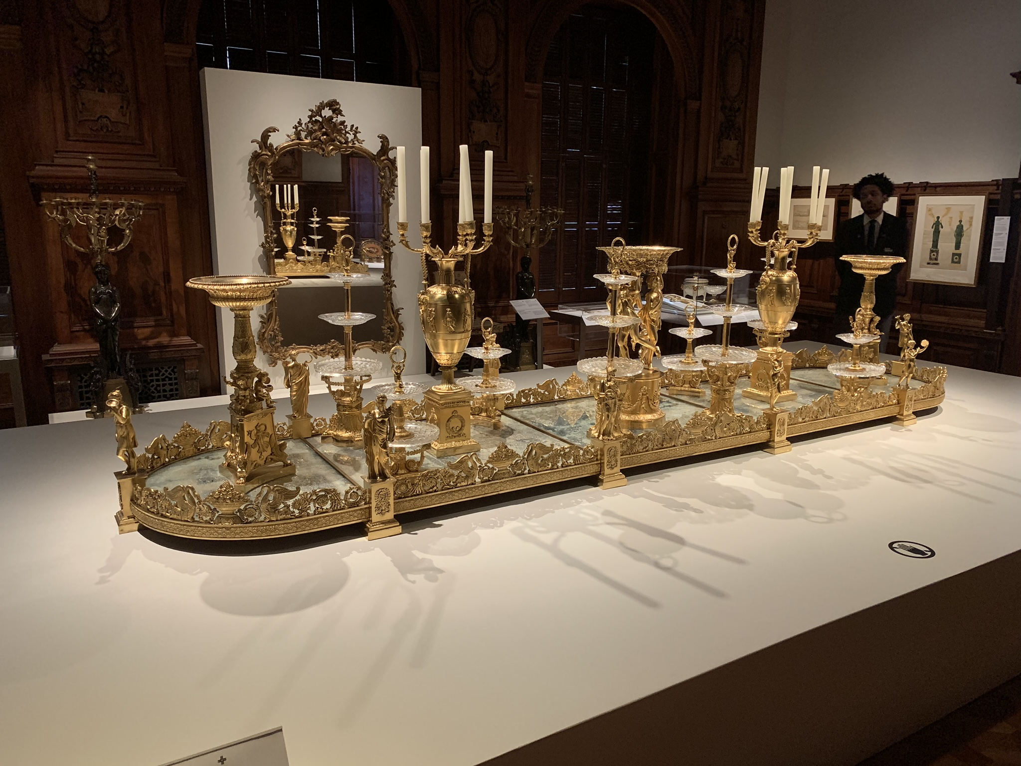 The stunning Thomire surtout de table, centerpiece of the Tablescapes exhibition. They stole my life!