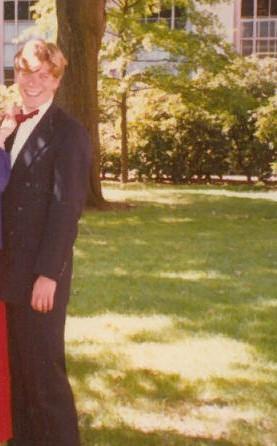 In Killian Court in the early 1990s. So slim, so blond!