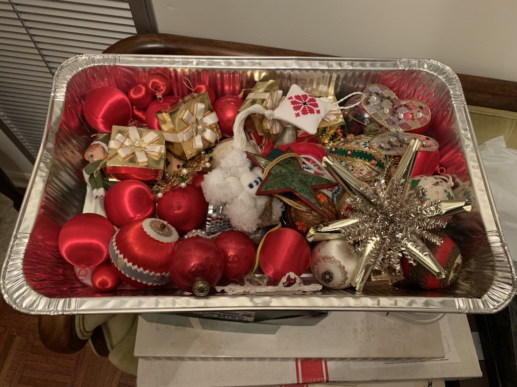 This is just  one  container of ornaments.