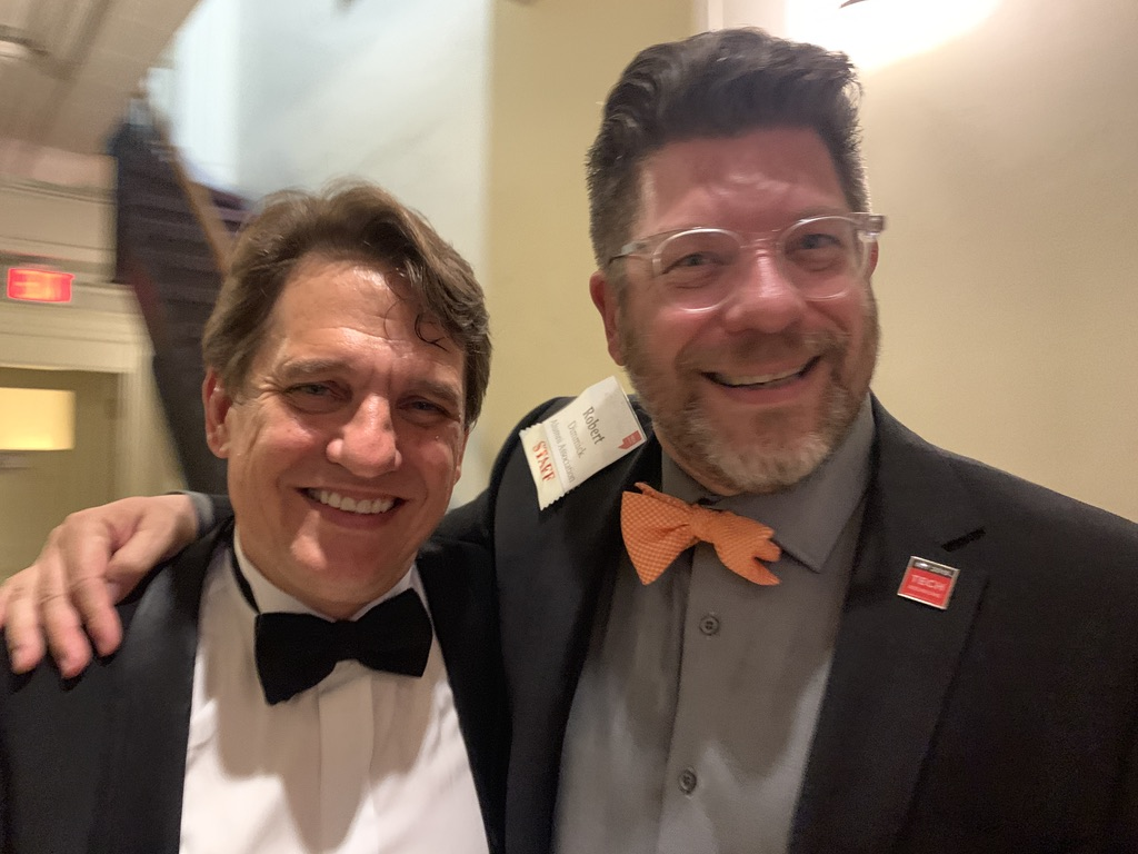 With Keith Lockhart backstage after Pops.