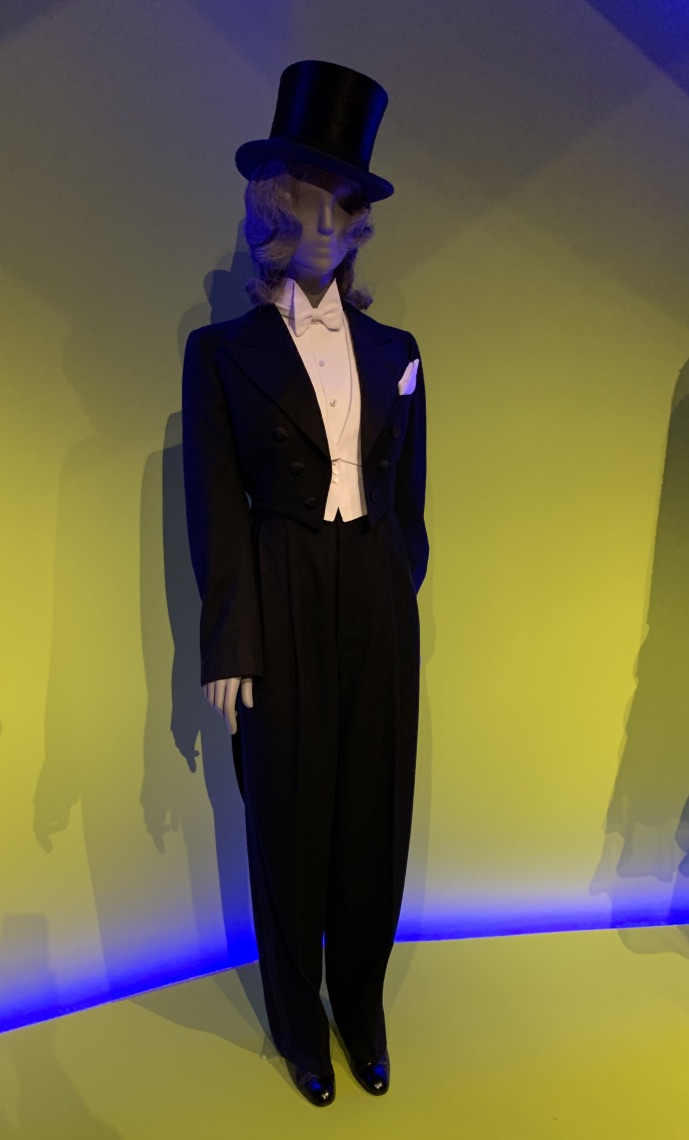 Marlene Dietrich's famous white tie and tails on view at the MFA.