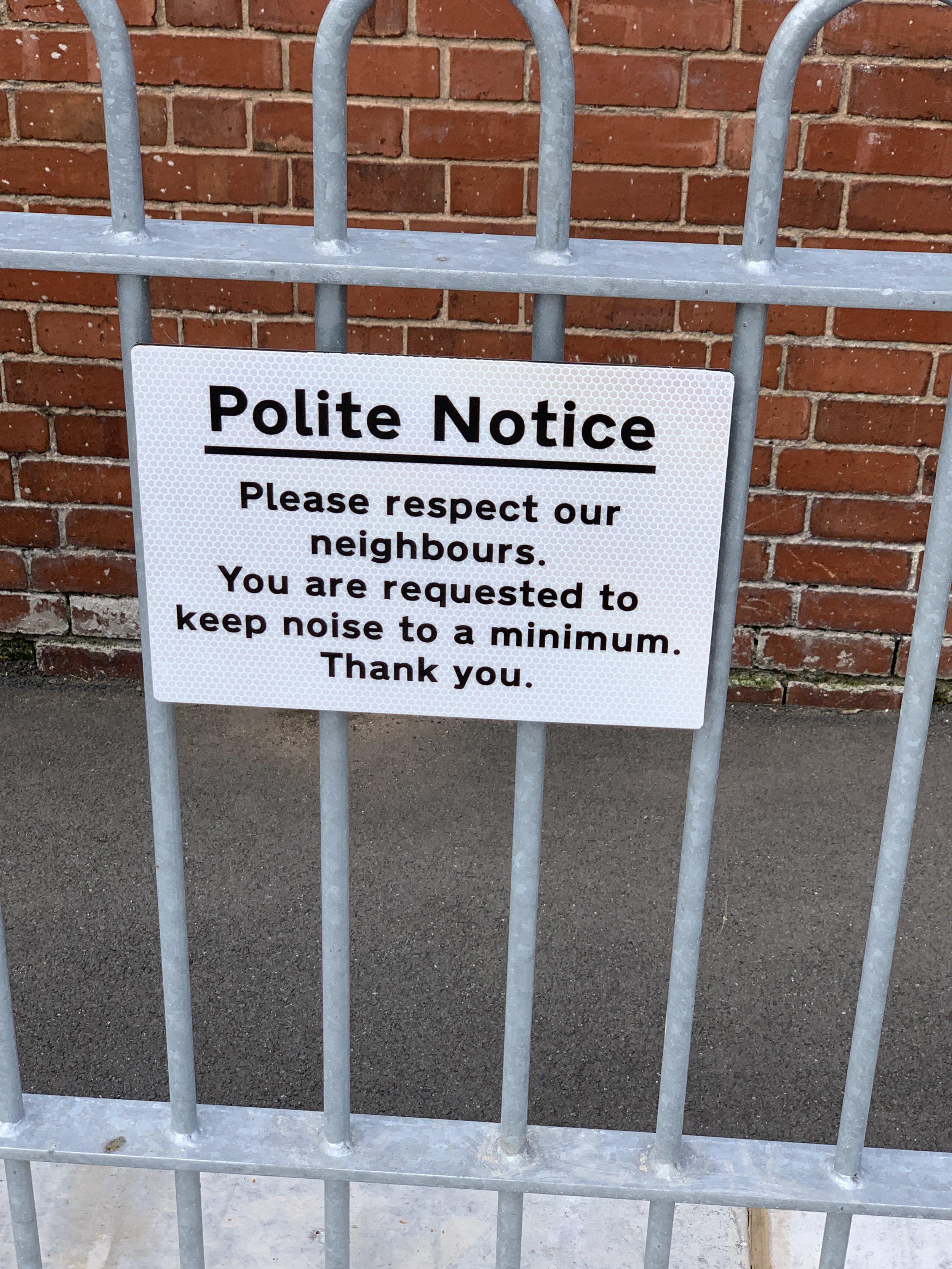 Seen at Kenilworth Station.