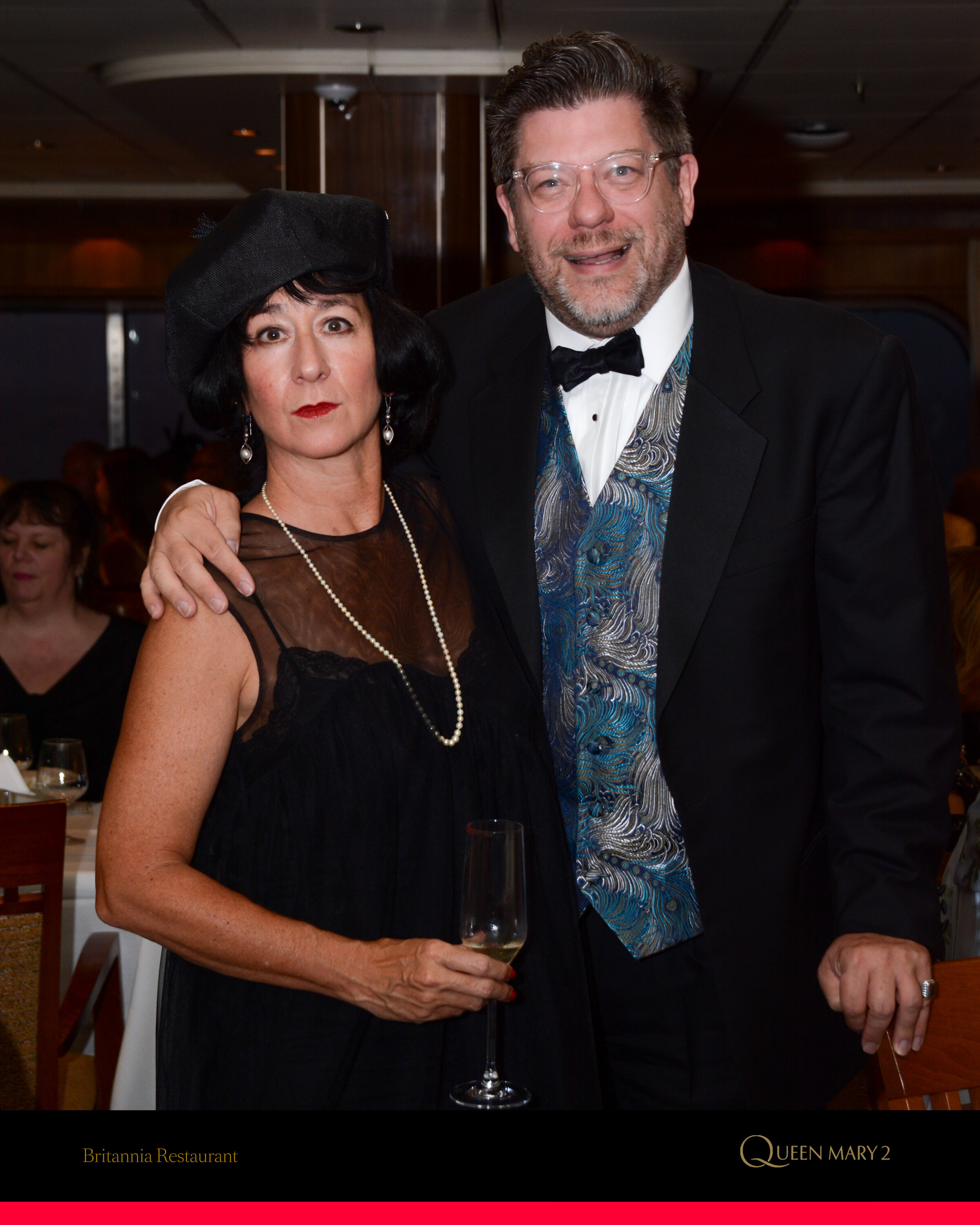 Gal Pal Hilary (as Edna St. Vincent Millay) and Hot Walker Etiquetteer on Roaring Twenties Gala Night.