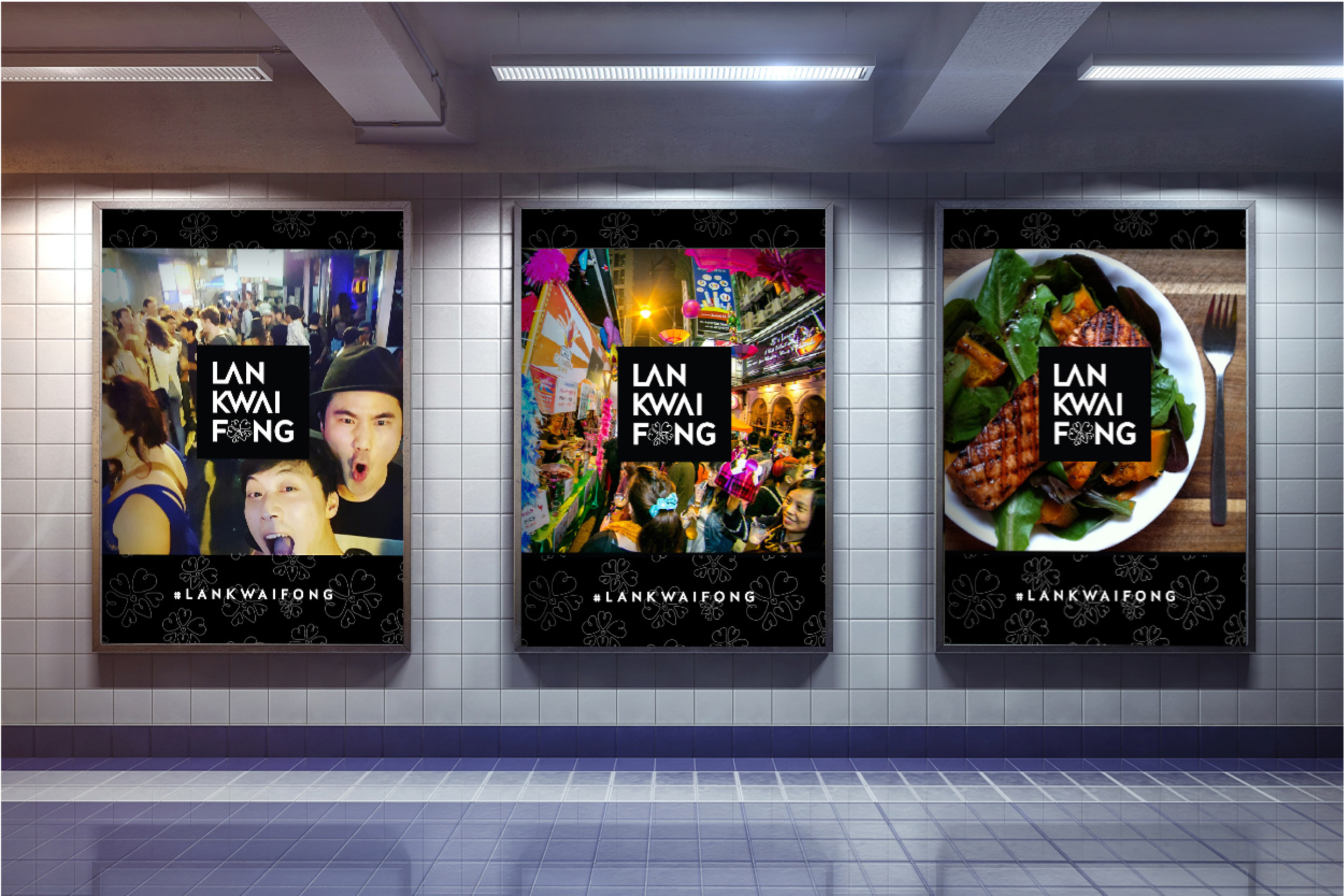 Hong Kong's metro station is one of the busiest in the world. LKF digital ads will stream consumer content photos from instagram to show the diverse elements of LKF.