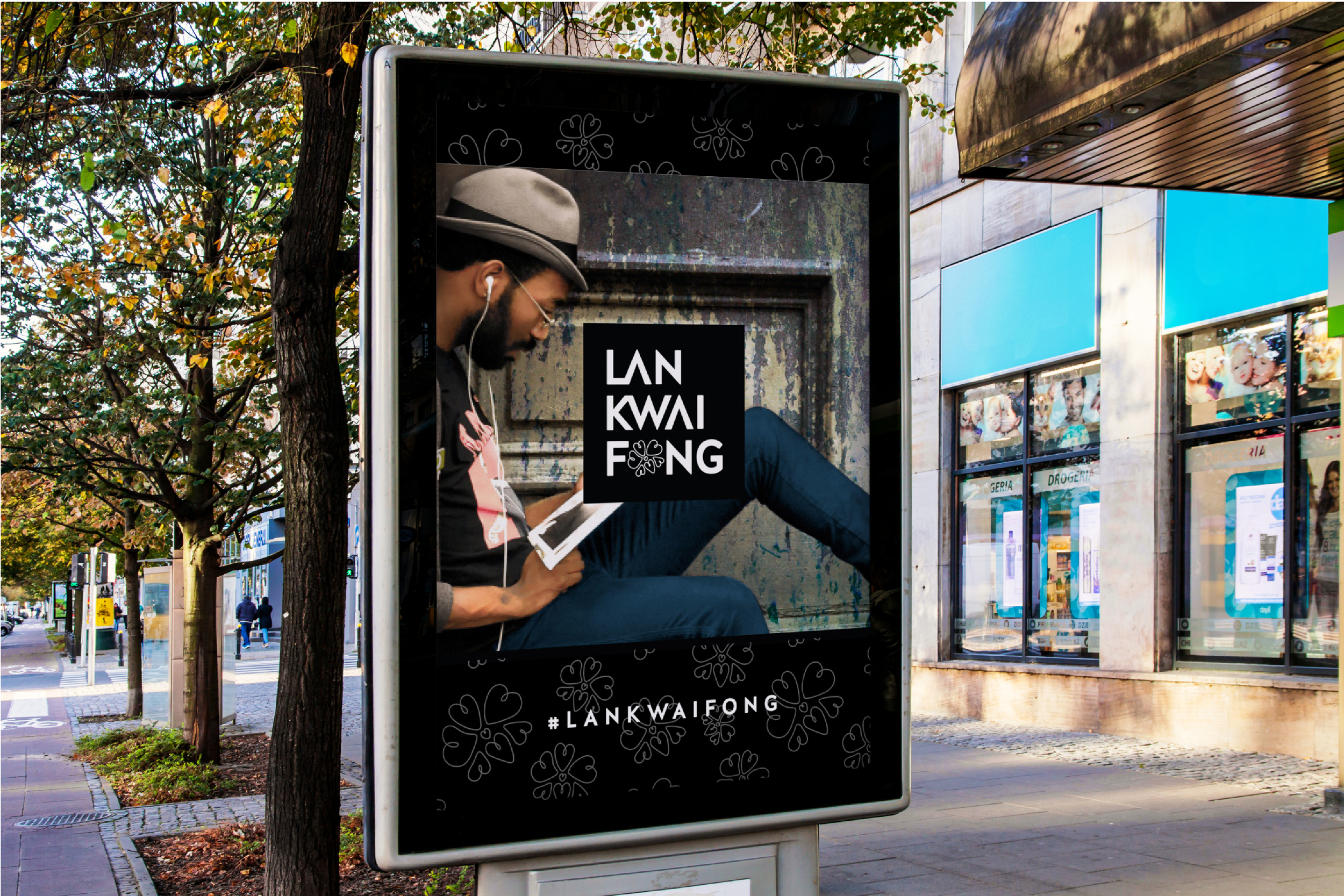 LKF's outdoor ads show lifestyle, nightlife and dining through the consumer's perspective;content from instagram, #LanKwaiFong