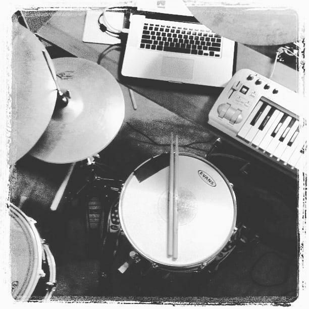 The evolution of my live rig. #omegachildlive #onemanmachine #livesetup #liveelectronicmusic #hybriddrumkit #synths #keysanddrumsatthesametime
