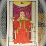 Justice card from Rider-Waite Tarot