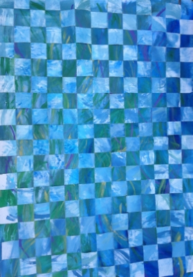 Weaving Water and Air , Acrylic on Woven Canvas