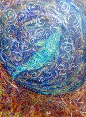 Whale Muse Mandala ,  Acrylic on Canvas