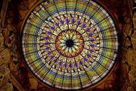 The Tiffany Glass Ceiling in the Hall of Mirrors Photo credit: http://www.dreamsofdamanhur.com