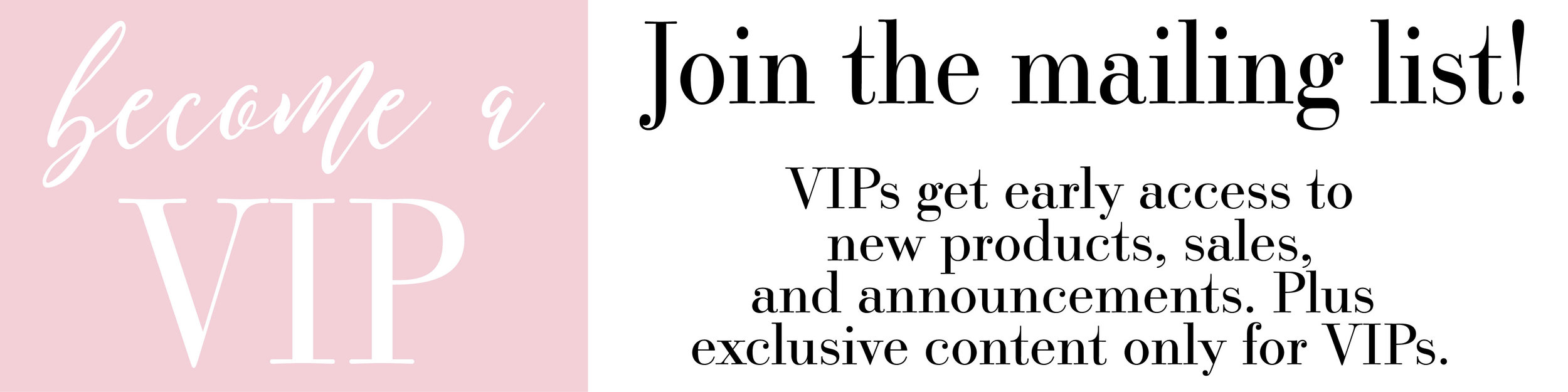 Peony Printshop - Sign up to become a VIP