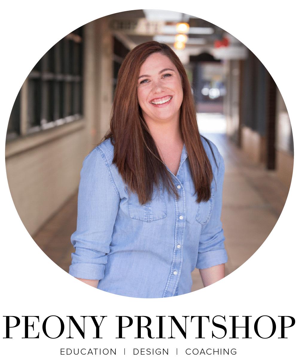 Peony Printshop    Education   Design   Coaching
