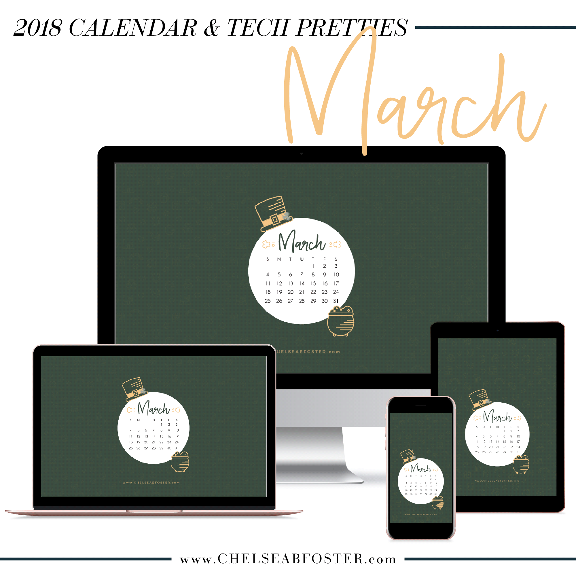 2018 March Tech Pretties - PeonyPrintshop.com is now ChelseaBFoster.com