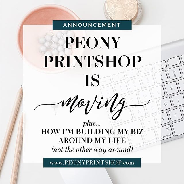 Peony Printshop is moving over to @chelseabfoster! .  I'm so excited for this move! And it's happening for a variety of reasons, including to continue to allow me to build my biz around my life - not the other way around. .  If I want to be true to myself, true to my heart, and true to my brand, I need to simplify and give myself the space to really truly love on those around me the way I want to and the way I feel called to. .  So Peony Printshop is moving over to Chelsea B Foster. I'll still be designing graphics and sharing my love of color, fonts, and cute graphics. I hope you join me! . 👉Follow along at @chelseabfoster