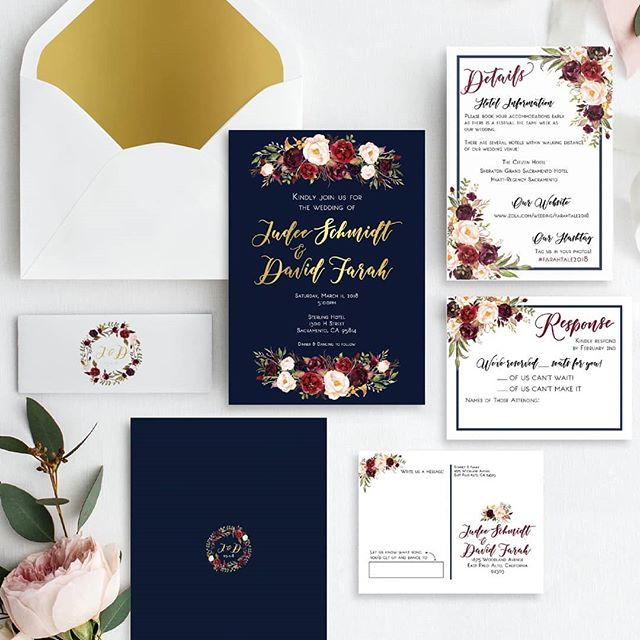 "These two tied the knot almost two weeks ago - Congrats J+D!!!! 💍👰🤵🥂 .  Also - so excited to finally get to share this amazing wedding invitation suite with you! Isn't it pretty?! .  Reminder - Peony Printshop is moving to @chelseabfoster. Head over there and click ""follow"" to continue hearing from me."