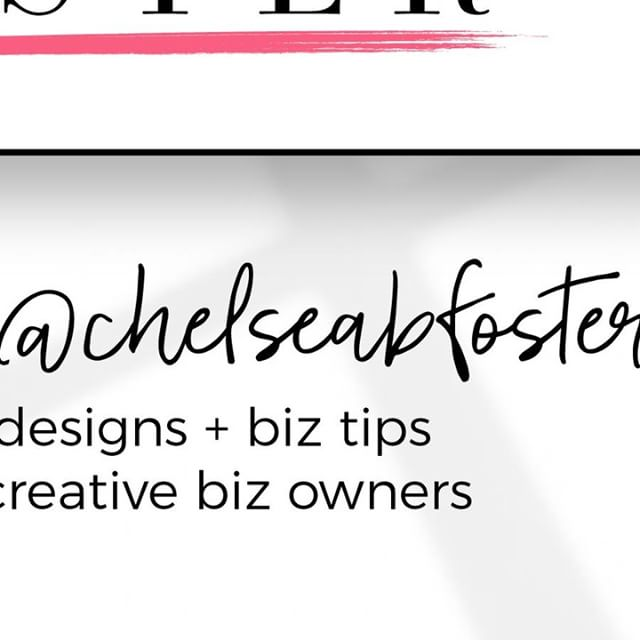 Follow along over @chelseabfoster
