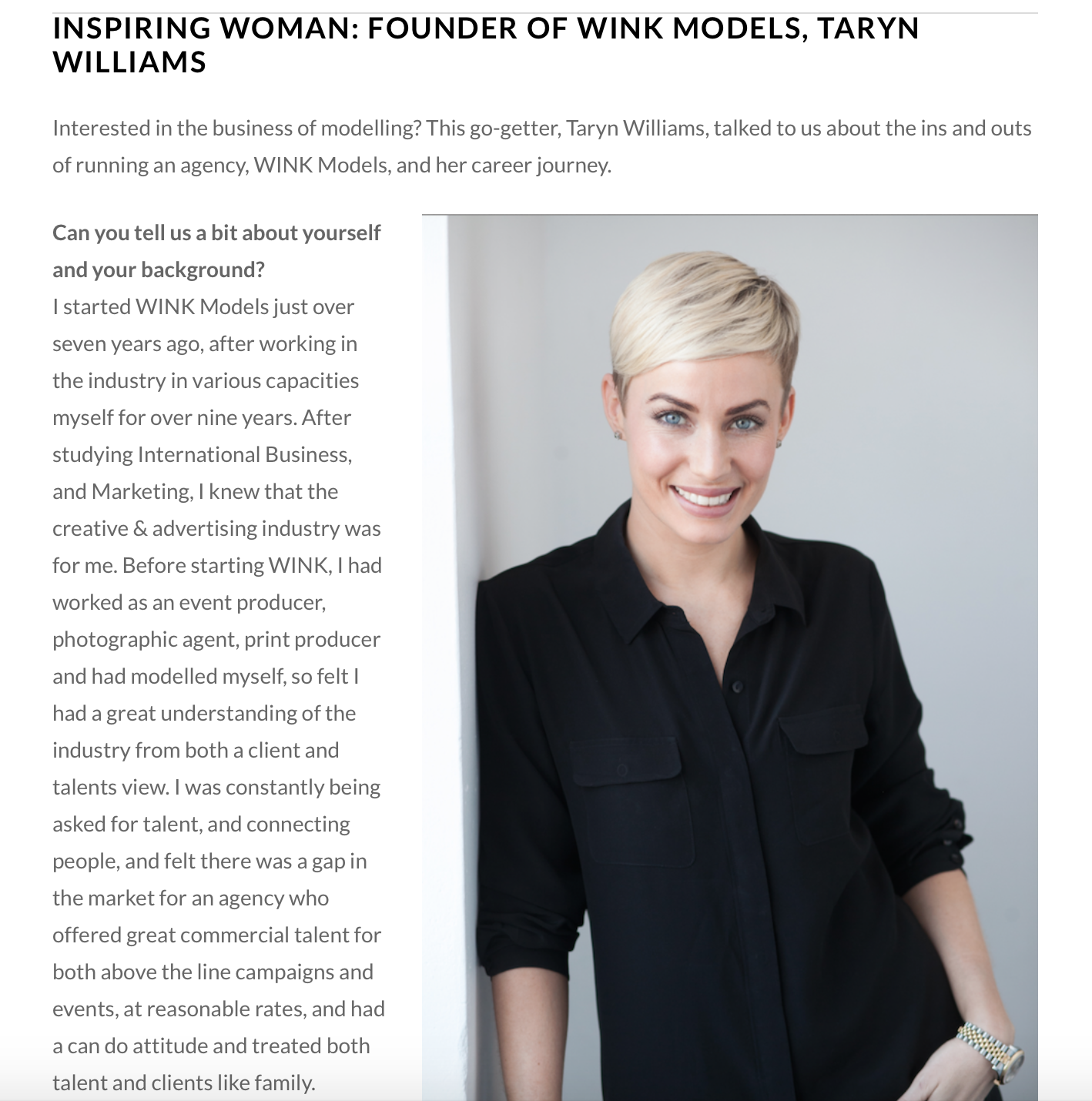http://www.theworkher.com/inspiring-women/inspiring-woman-founder-wink-models-taryn-williams/