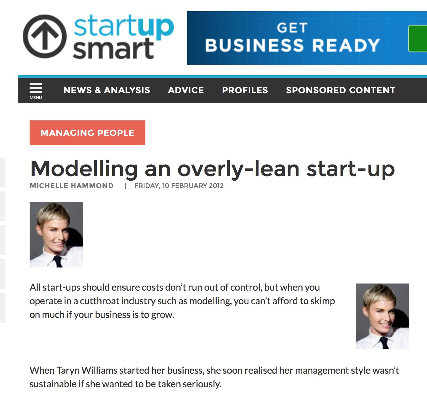 http://www.startupsmart.com.au/advice/finance/modelling-an-overly-lean-start-up/