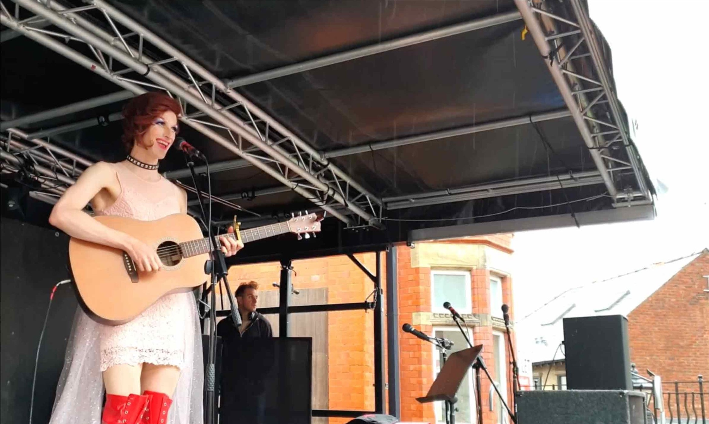 Queen Bayard performing on the Martyn Hett Stage  28.7.2019