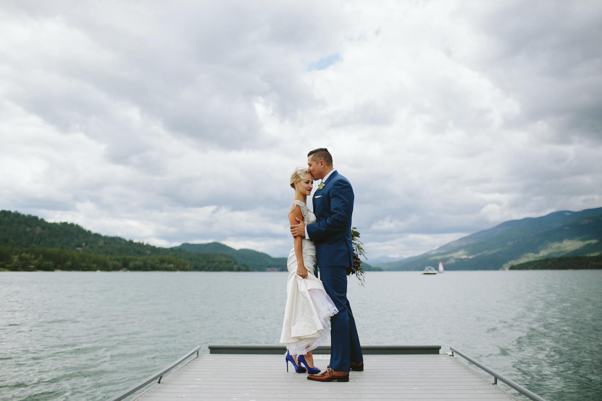 mountain wedding, lake wedding, alberta wedding photographer, vintage gown, blue heals, bride blue shoes, vintage hair